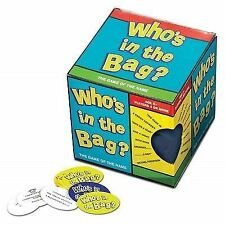 Who's in The Bag - Fun Verbal Charades Play Anywhere Game Complete UK Post
