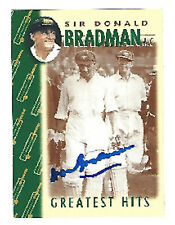 Don Bradman signed Weet Bix Greratest Hits card number 10 COA