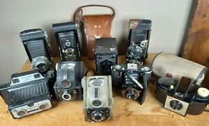 Vintage camera job lot - Zeiss, Kodak, Ensign, Brownie, Coronet