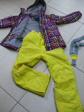 2 piece kids girls TRESPASS SKI SUIT size 9 10 years purple yellow unusual