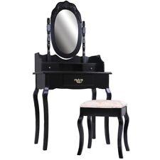 Schminktisch mit Spiegel und Hocker Frisierkommode Kosmetiktisch in Schwarz