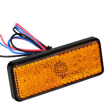 3528SMD Rectangle LED Reflector Tail Brake Stop Light Universal Motorcycle Amber