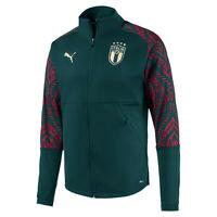 ITALIA FIGC FELPA PRESENTAZIONE VERDE 2019-20 PUMA ITALIA GREEN ANTHEM JACKET