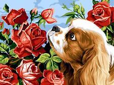 Margot de Paris Tapestry/Needlepoint Canvas – King Charles & Roses