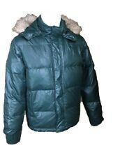 BENETTON giubbotto giacca in piumino ricca imbottitura vestibilità aderente 50