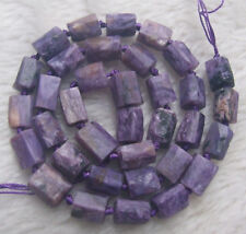 """8x10mm Natural Charoite Cylinder Loose Beads 15.5"""""""