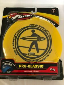 New WHAM-O Pro-Classic FRISBEE 130g yellow surfer sport disc recreational NIP