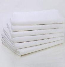 12 FULL XL SIZE 81X115 FLAT MOTEL RESORT BED SHEET T-250 WHITE HOTEL LINEN SHEET
