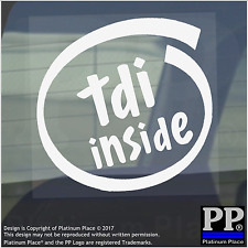 1x TDI Inside-Window,Car,Van,Sticker,Sign,Vehicle,Turbo,Charged,Direct,Injection