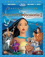 POCAHONTAS & POCAHONTAS 2 (Double Feature) -  Blu Ray - Sealed Region free