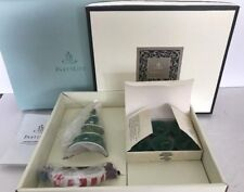 NEW Partylite Ceramic Xmas Candle Holder And Xmas Tree Snuffer SPRUCE Scent