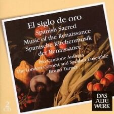 ANTIQUA/TURNER -EL SIGLO DE ORO:SPANISH SACRED MUSIC OF THE RENAISSANCE 2CD NEW+