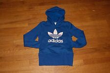 Womens Adidas Trefoil Hoodie Blue Pink XS or  L