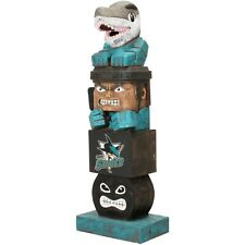 "San Jose Sharks Tiki Totem Pole 16"" Outdoor Resin Home Garden Statue Decoration"