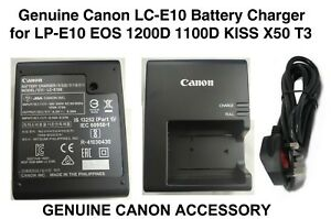 Genuine Canon LC-E10E Battery Charger for EOS 1100D 1200D 1300D X50 Rebel / Kiss