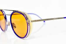 Cutler and Gross Sunglasses with Shield Gold Amber Orange Lens 49-24-140