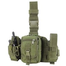 CONDOR MA25-001 MOLLE Tactical Utility Drop Thigh Leg Rig w/ 3 Pouches Olive OD