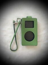Coach Green Case for Apple iPod Mini w/ Green Heart Charm, EXCELLENT CONDITION!