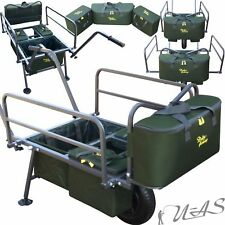 DELTA FISHING XL TROLLEY PRESTIGE 4 X TASCHEN CARP BARROW ANGEL KARRE WAGEN SHA
