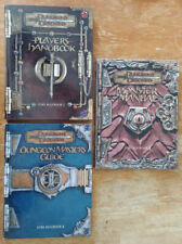 Dungeons & Dragons 3 3e 3rd Lot of 3 core rulebook + 3 softcover guidebook (Ex)