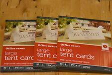 Office Depot Brand Inkjetlaser Tent Cards 3 12 X 11 50pk Lot Of 3
