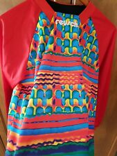 Reusch Soccer Goal keeper Jersey Padded Elbow Vintage tie dye youth large