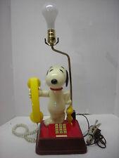 1970's American Telecommunications Snoopy Telephone/Lamp Phone