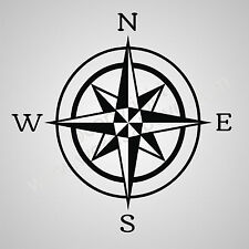 Huge Compass Decal Wall / Window Decal Sticker 5x5 Inch ( FAST SHIPPING )