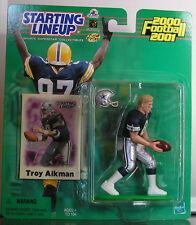 2000 Troy Aikman Dallas Cowboys Starting Lineup mint in pkg w/ Football Card