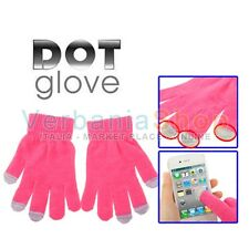 DOT GLOVES GUANTI CAPACITIVI PER TOUCH SCREEN SONY ERICSSON BLACKBERRY ACER PINK