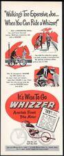 1948 Whizzer bike motor motorcycle illustrated vintage print ad 2