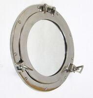 "Ship's Cabin Porthole Mirror 11"" Aluminum Chrome Finish Nautical Wall Decor"