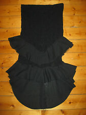 LIP SERVICE black ruffle mermaid skirt DISINTERGRATED LACE goth RARE bnwt S