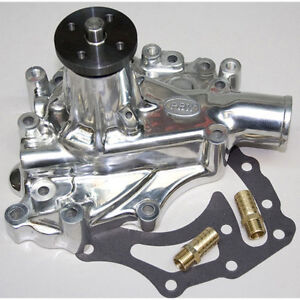 PRW 1435110 High Performance Polished Aluminum Water Pump for Ford 351C/351M/400