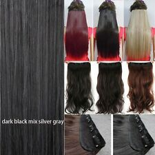 US 100% Long Real Thick One Piece Full Head Clip in As Human Hair Extensions PH3