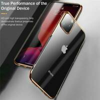 For iPhone 11 11 Pro 11 Pro Max Luxury Plating Rubber Clear Soft TPU Cover Case