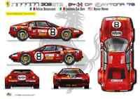 [FFSMC Productions] Decalcomanie 1/24 Ferrari 308 GTB #8 Daytona '78