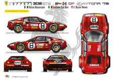 [FFSMC Productions] Decals 1/18 Ferrari 308 GTB #8 Daytona '78