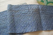 Vtg Antique Civil War Landercaster Blue Calic Quilt Dress Dolls Fabric