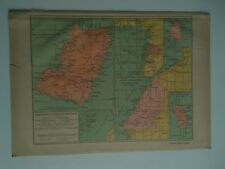 1913 map spanish possessions in Africa west Gulf of Guinea
