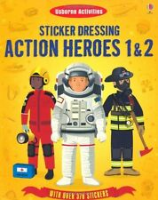 Sticker Dressing Action Heroes 1 and 2 (Usborne Sticker Dressing),New Condition