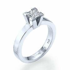 1/2 Ct Enhanced Diamond Engagement Ring Platinum D Vs2 Princess Cut 9031