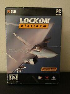PC Game Lock On: Platinum DVD Windows Software Plane Flight Simulation 2 Discs
