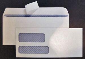 #9 Double Window Envelope w/ privacy tint Peel & Stick 250/500 counts