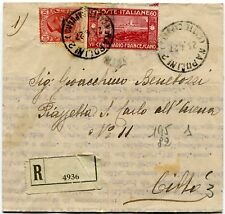 1926 San Francesco 60 cent. su busta Raccomandata dest. Napoli città