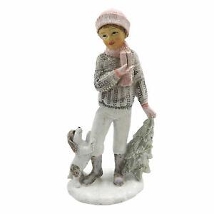 Clayre Eef Weihnachten Weihnachtsschmuck Winterkind Junge mit Hund 7x5x14 cm