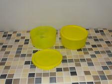 """Tupperware Frische Behälter Cubix """"Sonnenschein"""" gelb (2) je 530ml NEU"""
