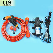 High Pressure Car Electric Washer Kit 130PSI Self-priming Wash Pump 12V Portable