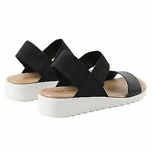 Kensie Women's Everly Slingback Semi-Wedge Sandals - Black/Snake