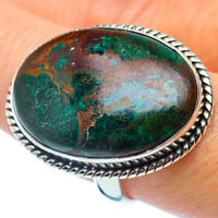 Large Chrysocolla 925 Sterling Silver Ring Size 9.25 Ana Co Jewelry R37302F
